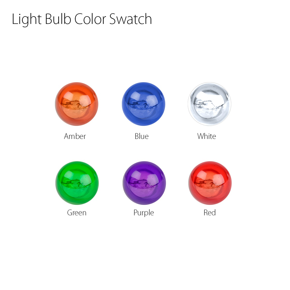 #1445 Miniature Replacement Light Bulb Color Swatch