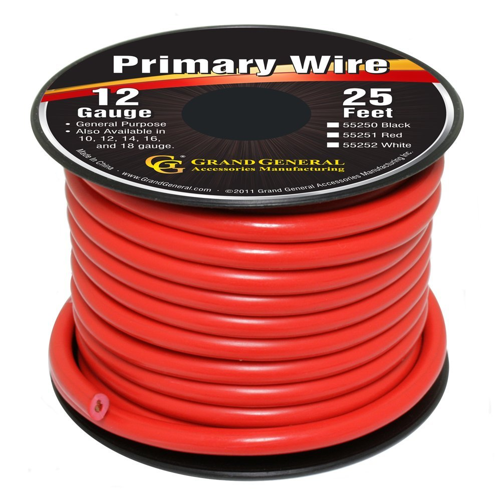 55251 Primary Wires in 12 Gauge