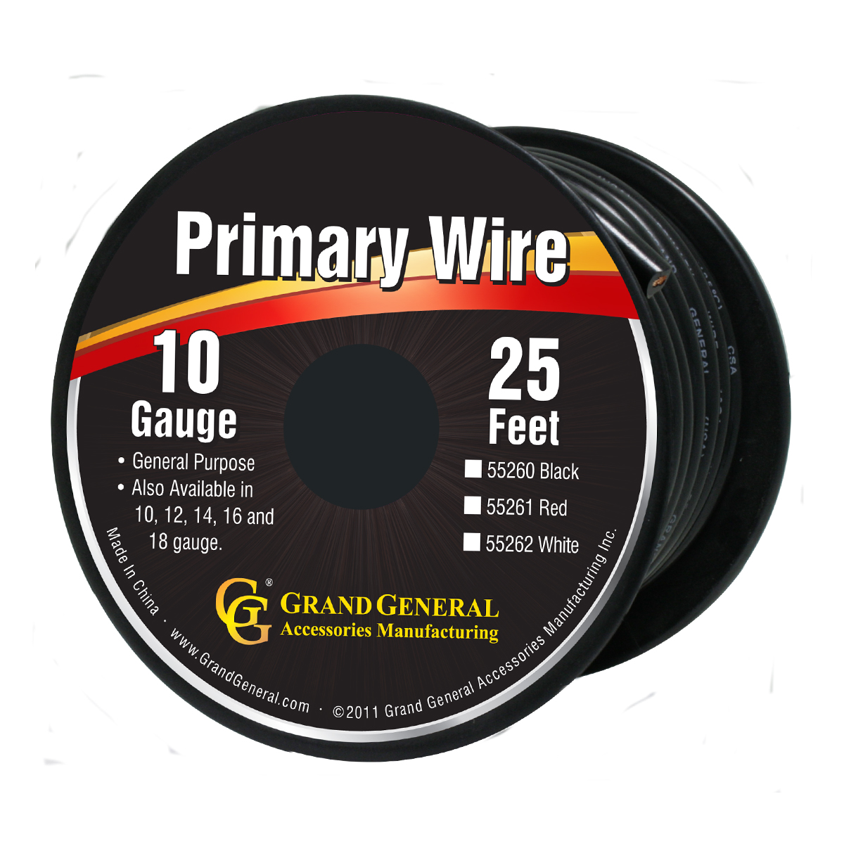 55260/55260SP Primary Wire in 10 Gauge, 25 Feet