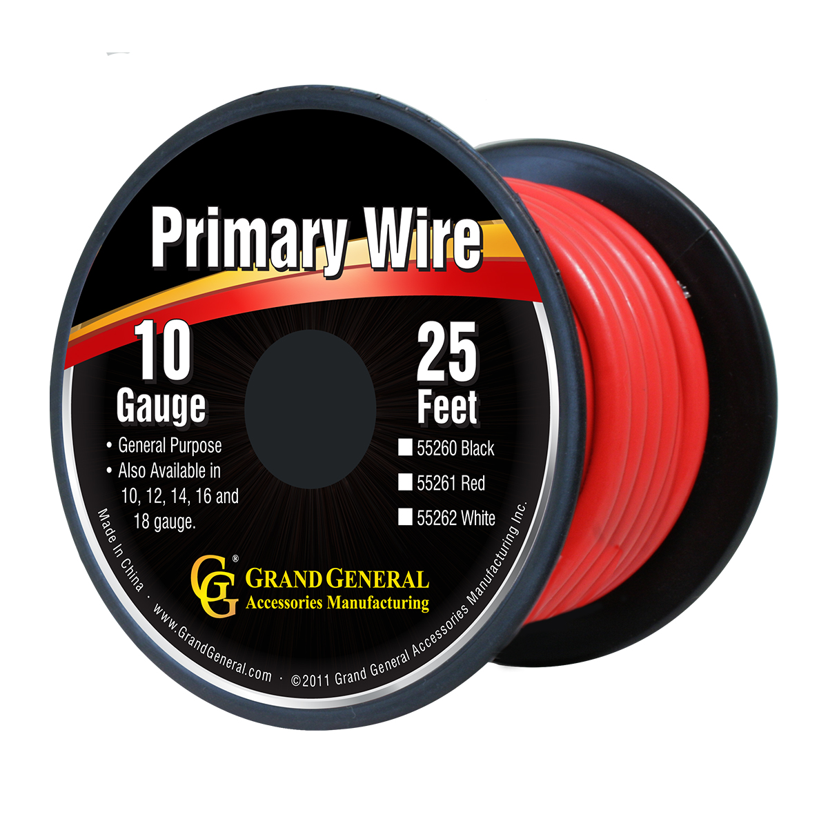 55261/55261SP Primary Wire in 10 Gauge, 25 Feet
