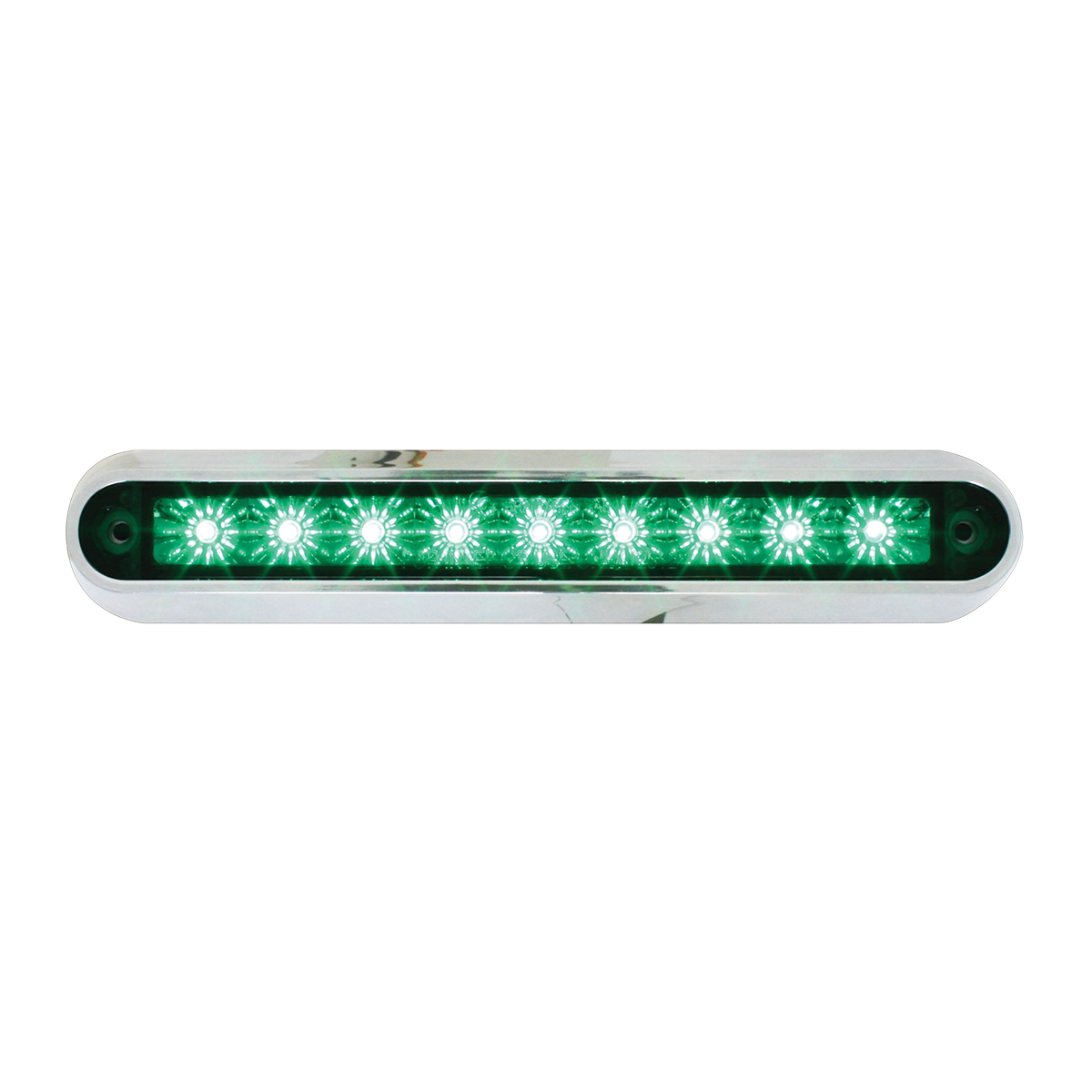 "76096 6.5"" Surface Mount LED Light Bar w/ Chrome Plastic Base"