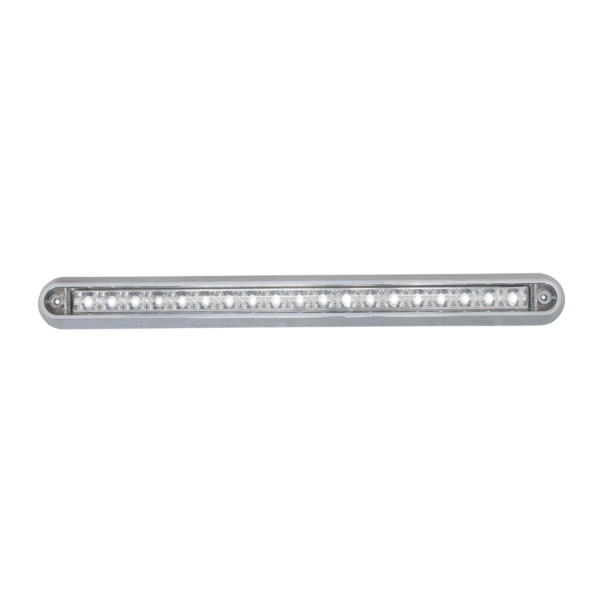 "76297 12"" Surface Mount Light Bar with Chrome Plastic Base"