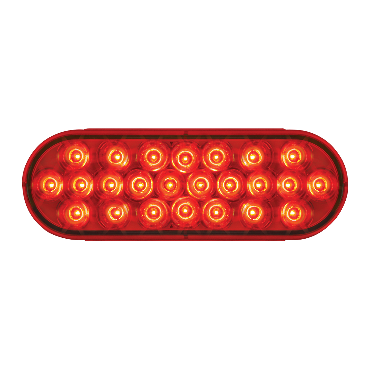 Oval Synchronous/Alternating Pearl LED Strobe Light in Red/Red