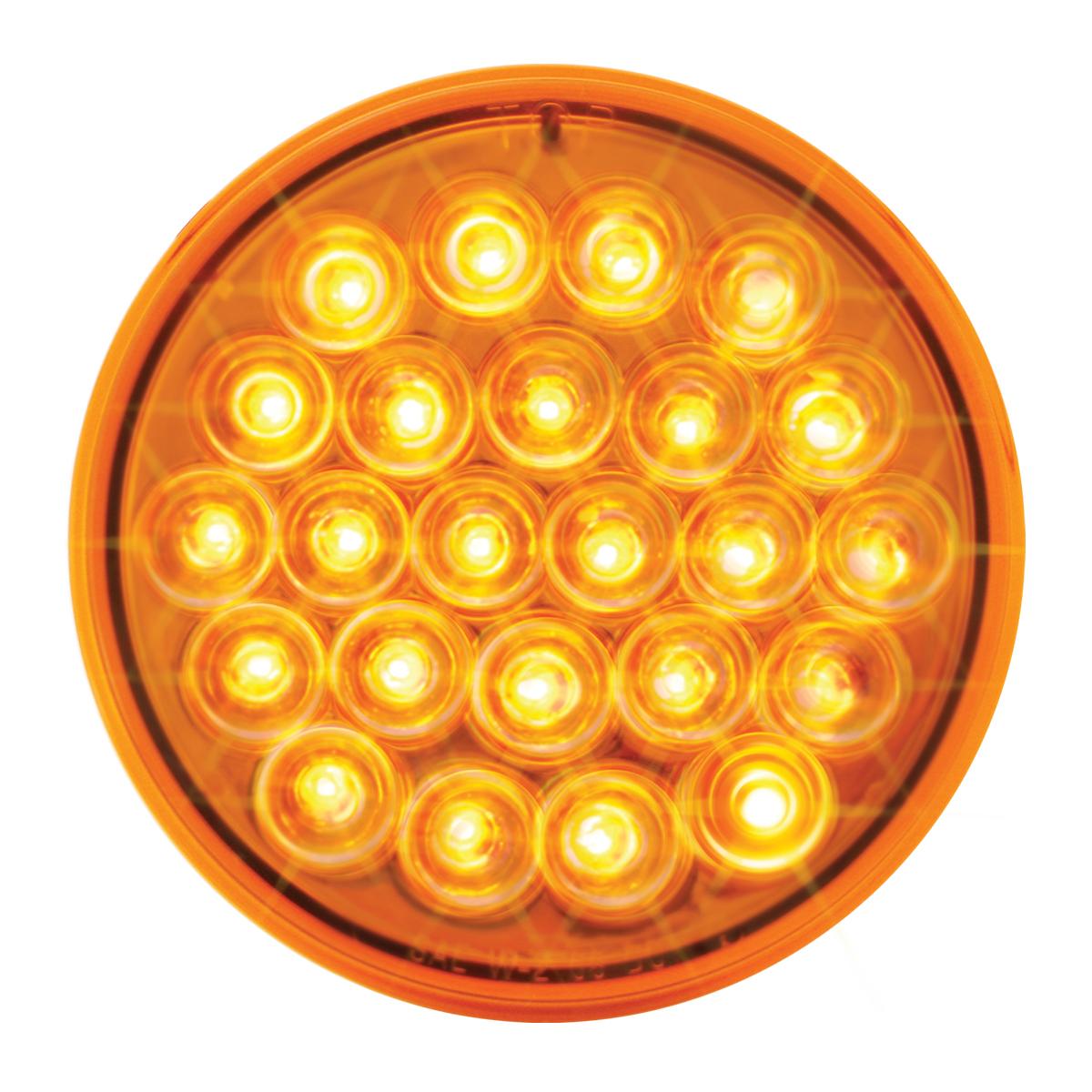 4 Round Amber LED Strobe light