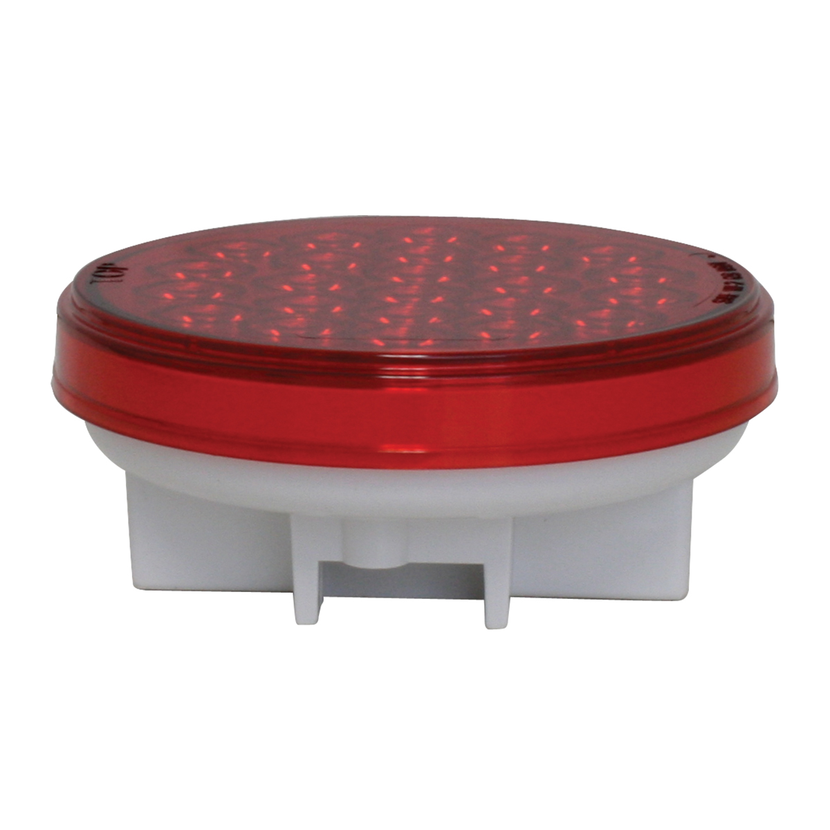 "4"" Round Synchronous/Alternating Pearl LED Strobe Light in Red/Red"