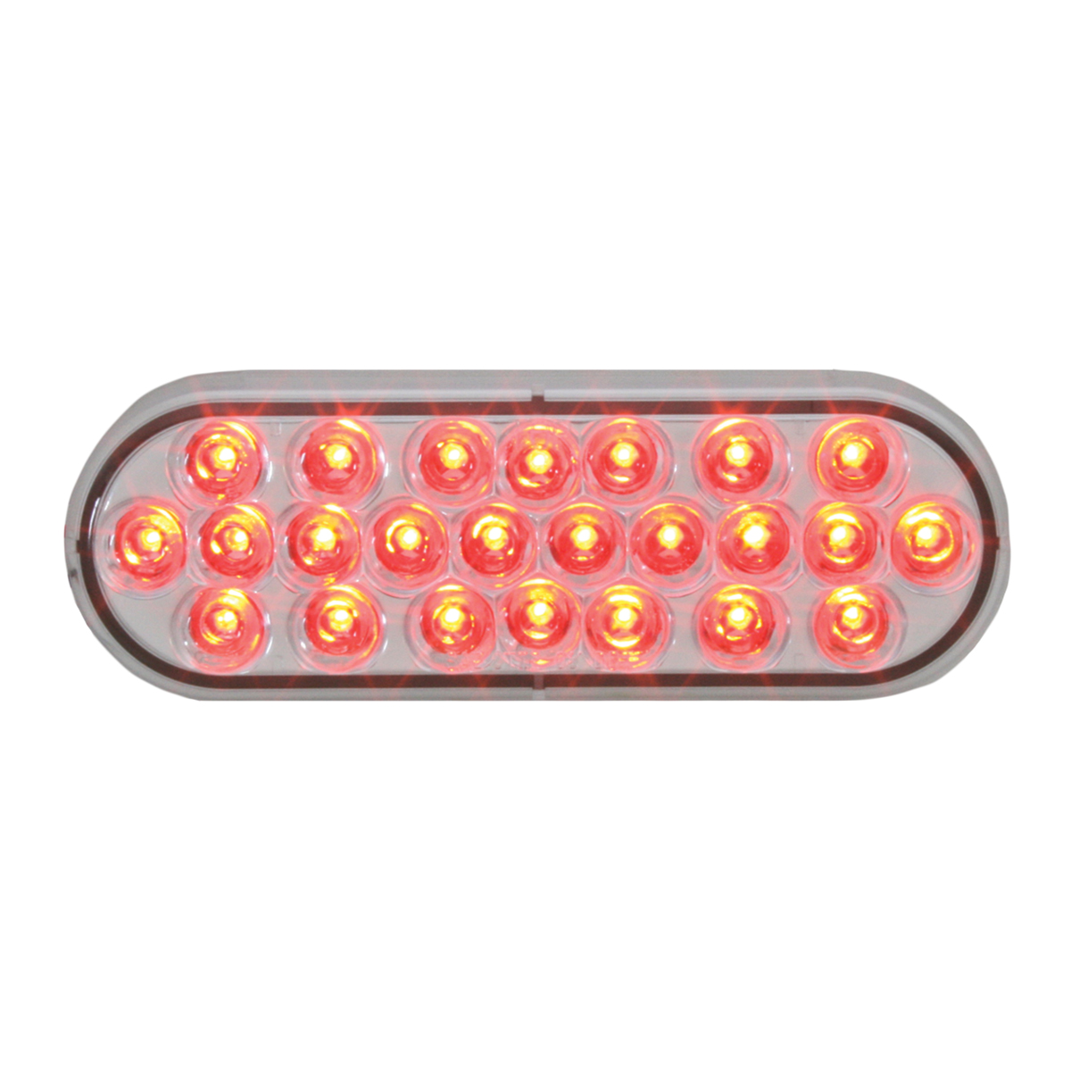 76528 Oval Pearl LED Strobe Light in Red/Clear