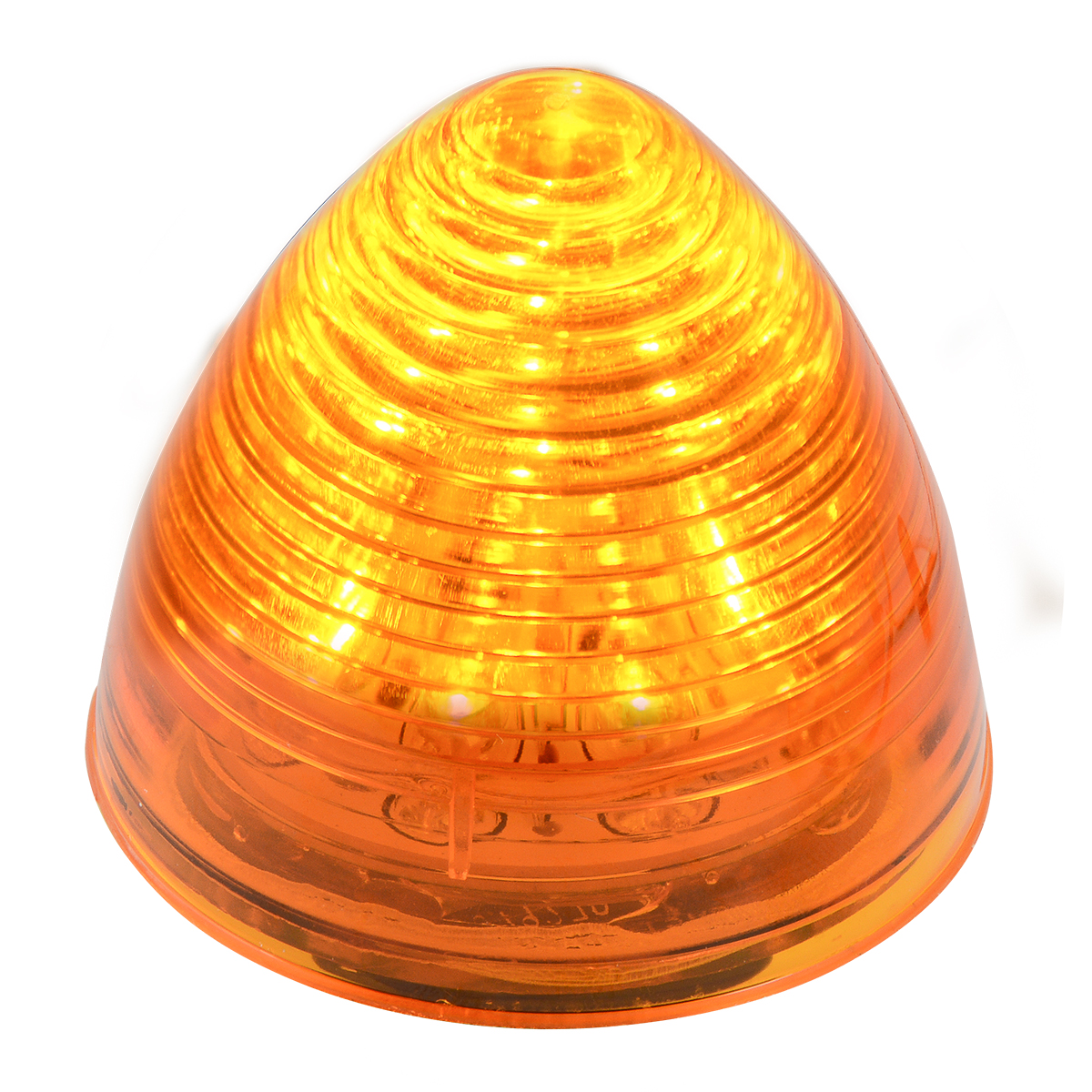 "#79270 2"" Beehive LED Flat Amber/Amber Light"