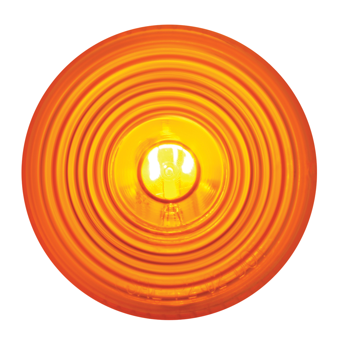 "#80723 2"" Round Incandescent Flat Amber/Amber Light"