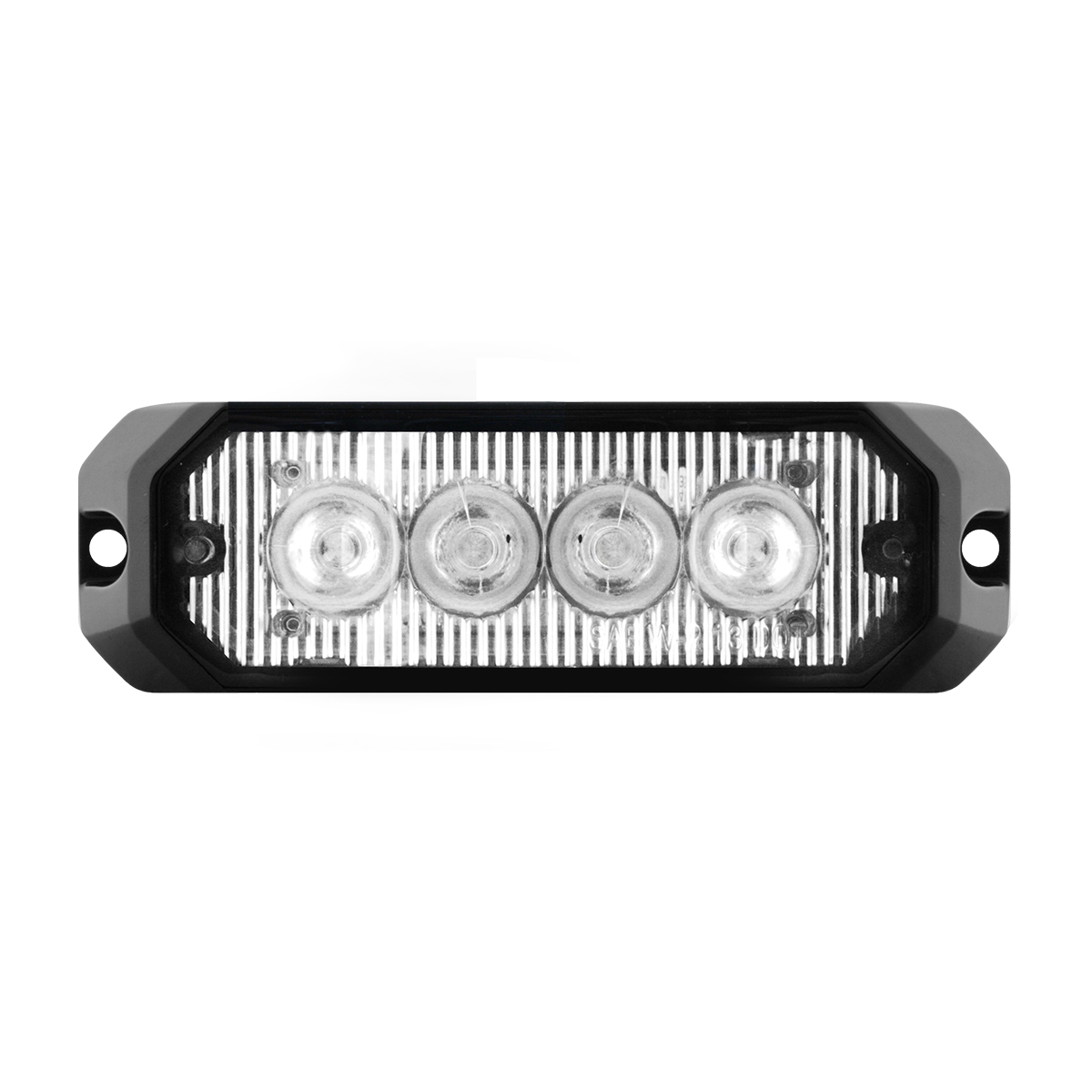 "4"" Medium Rectangular High Power LED Strobe Light in Clear Lens"