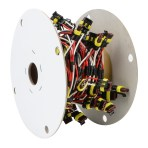 Continuous 3-Pin Light Plug Wire Harness Roll