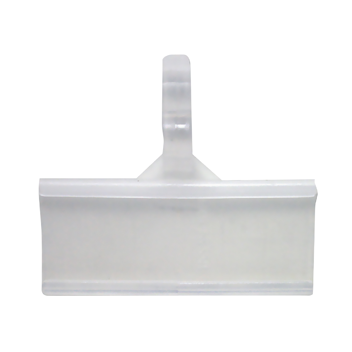 Clear plastic front window label holder designed for Metal Wire Basket