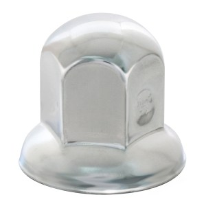 Standard Chrome Steel Push-On Lug Nut Cover w/ Flange