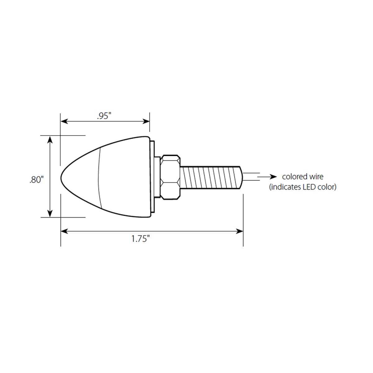 Bullet Fastener LED Light