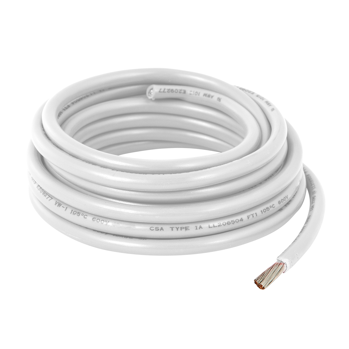 55015 White UL Listed Primary Wires in 16 Gauge
