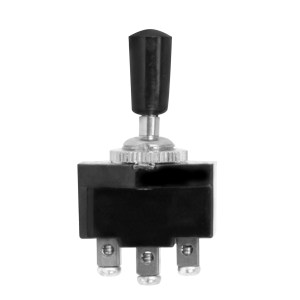 Metal Toggle Switch with Black Plastic Cover