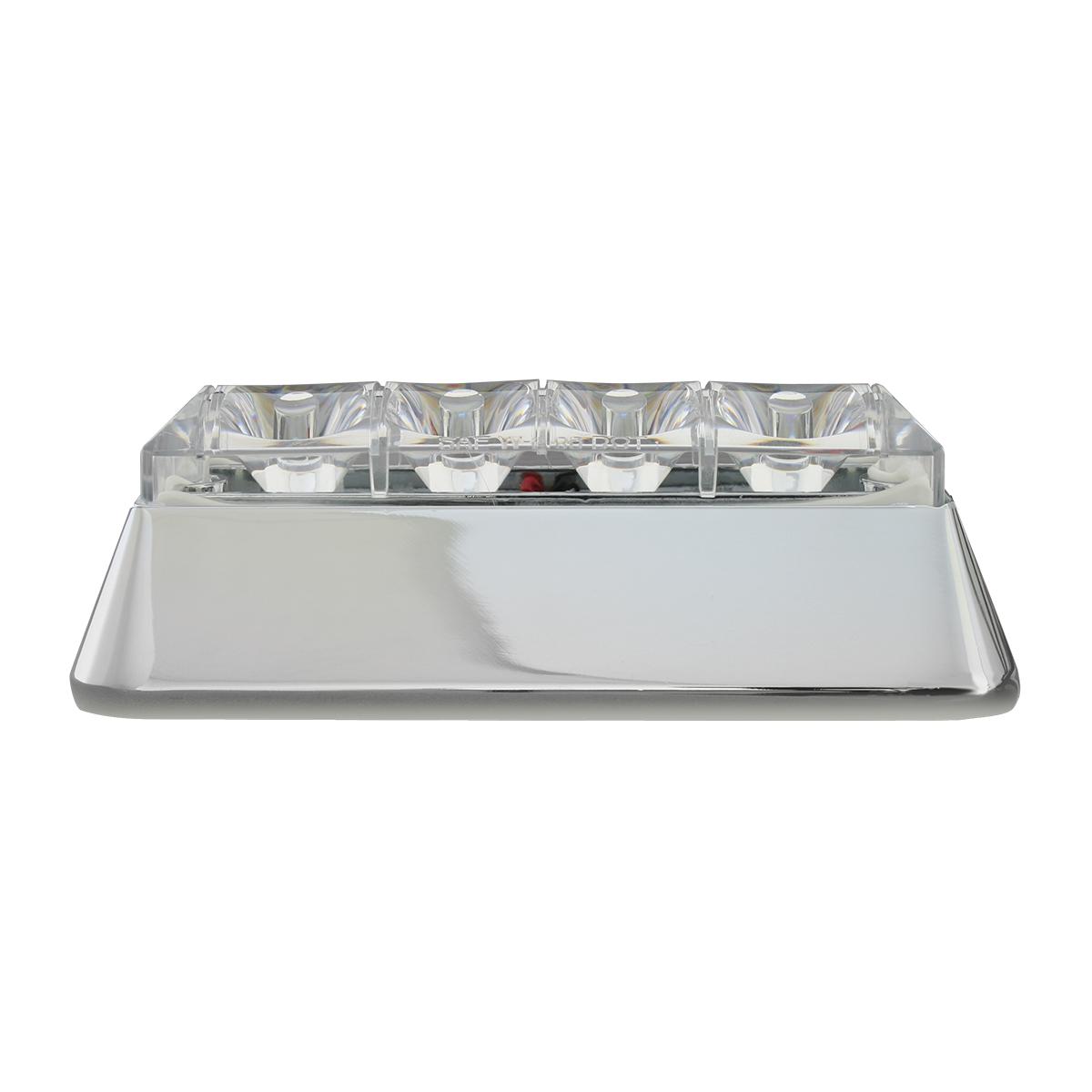 76531 Amber/Clear Medium Rectangular 4 LED Strobe Light