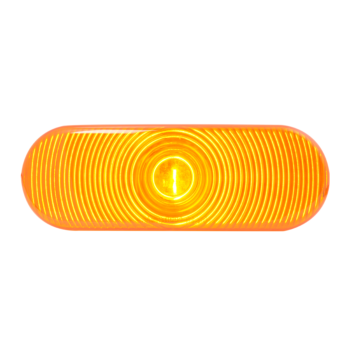 #80800 Incandescent Flat Oval Sealed Light - Amber/Amber