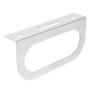 "Stainless Steel Single Light ""L"" Shape Mounting Bracket with Oval Sealed Light"