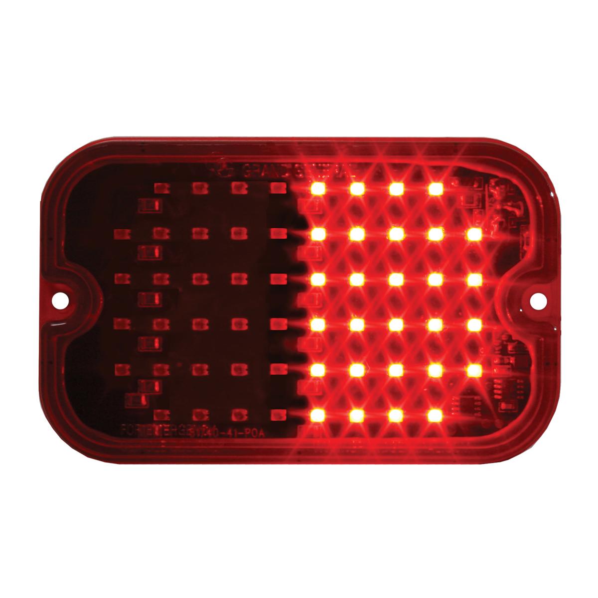 81745 Red/Red Ultra Thin Large Rectangular Strobe LED Light