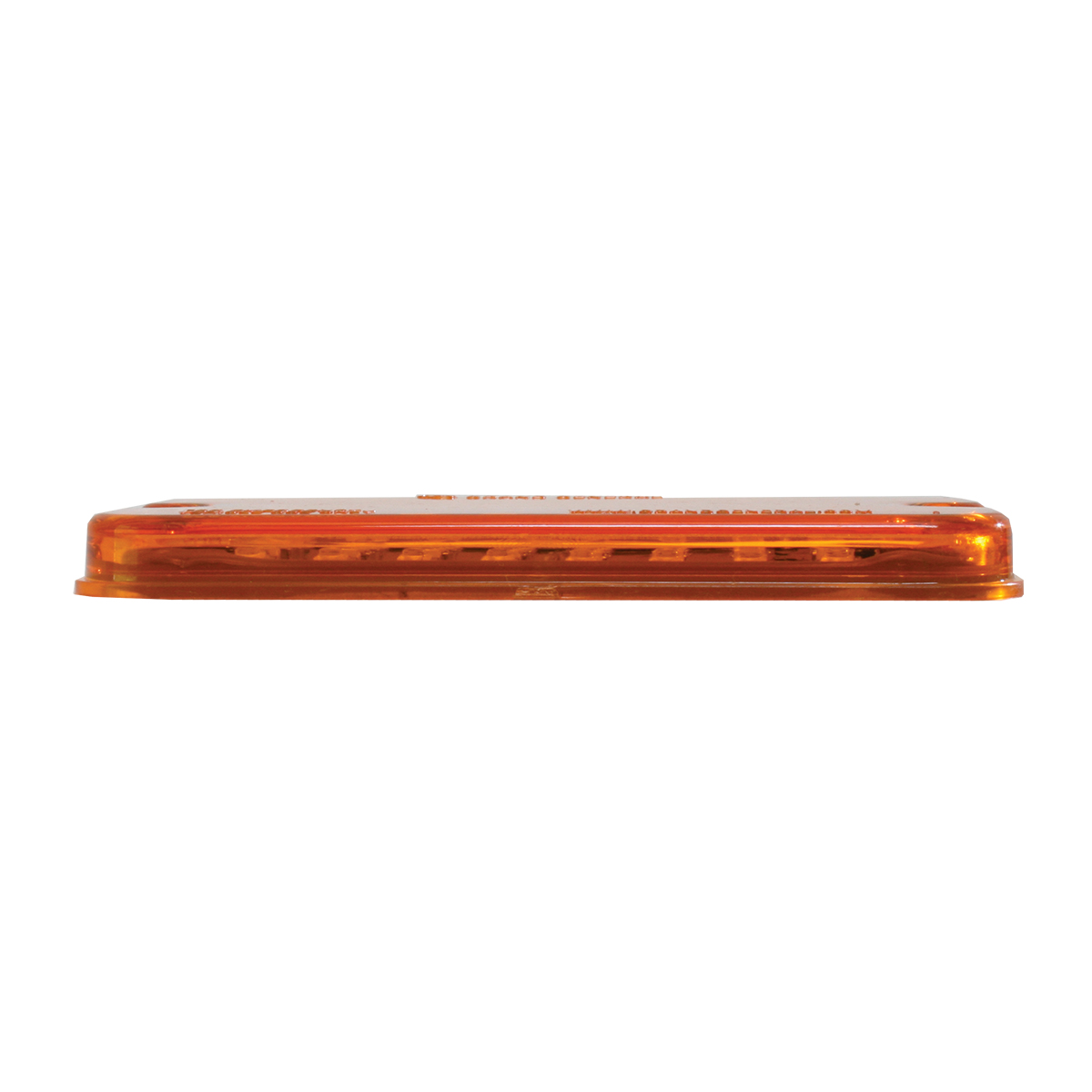 81746 Amber/Amber Ultra Thin Small Rectangular LED Strobe Light