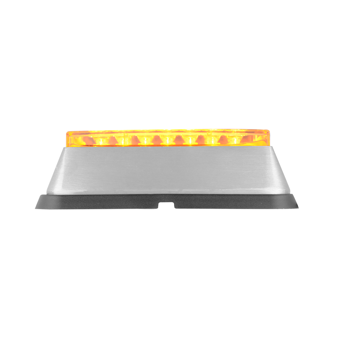 81821 Amber/Clear Medium Rectangular 14 LED Strobe Light