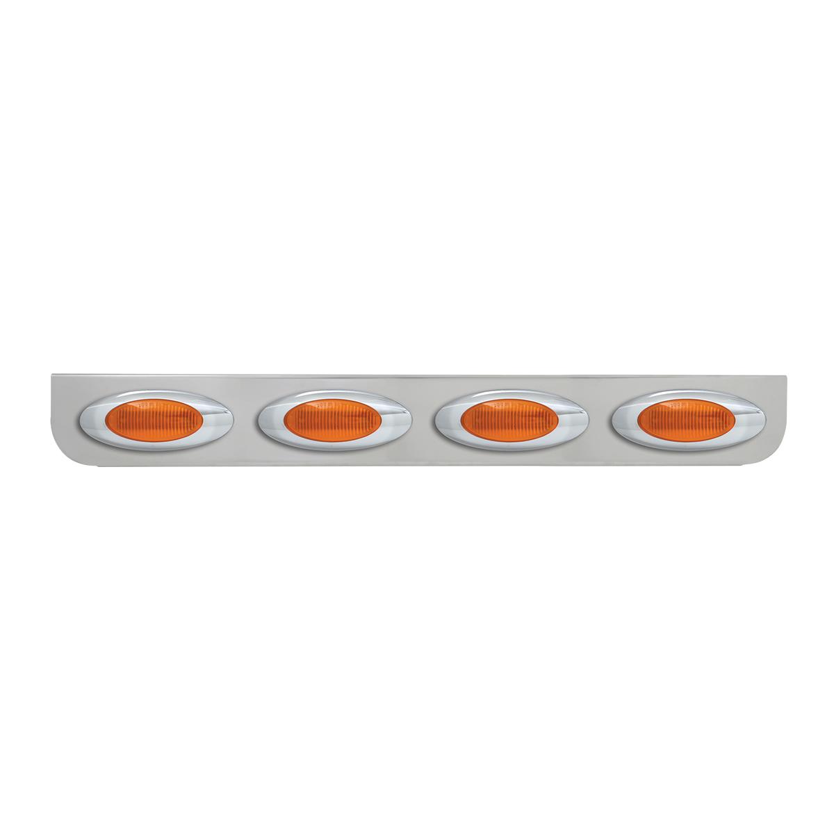 "#89070 Quadruple Chrome ""L"" Shape Light Bracket with Plug-In Y2K Incandescent Light"