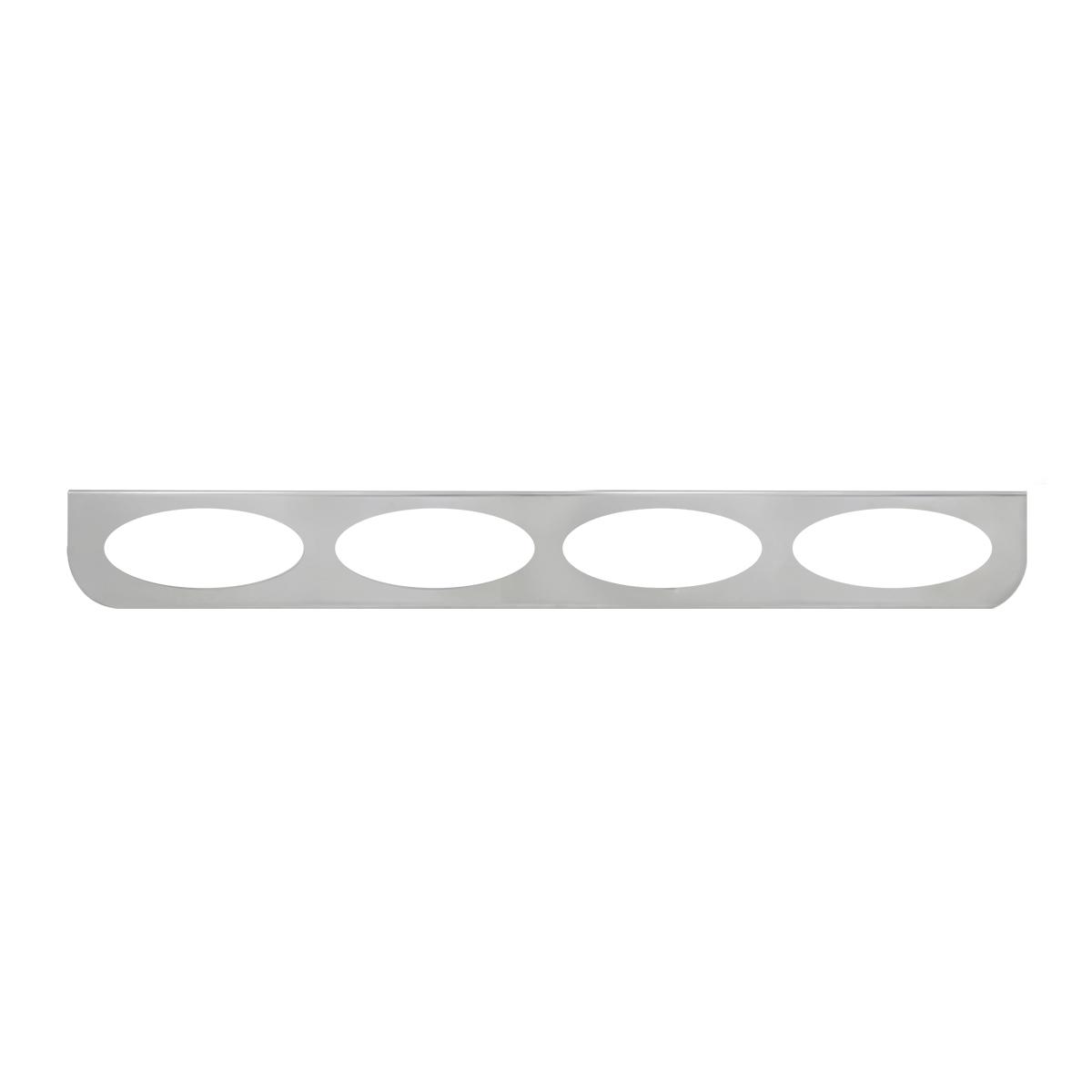 "#89079 Quadruple Chrome ""L"" Shape Light Bracket Only"