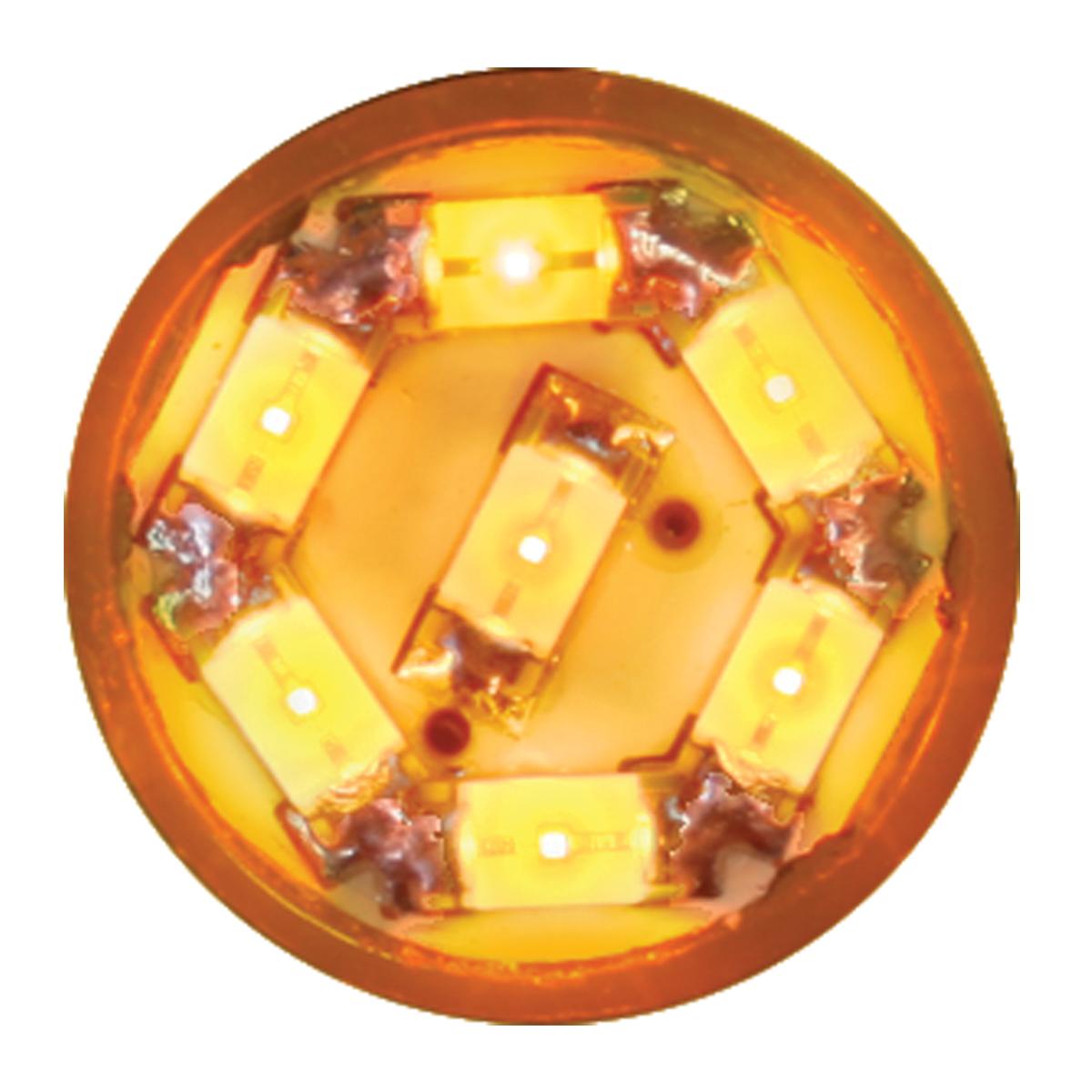 74900 Amber 194/168 Dome Type 7 LED Light Bulb