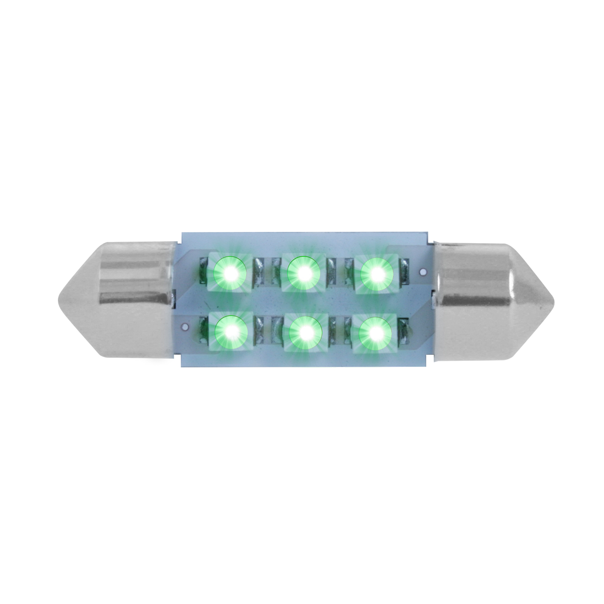 75002 Green 211-2 Dome Type 6 LED Light Bulb