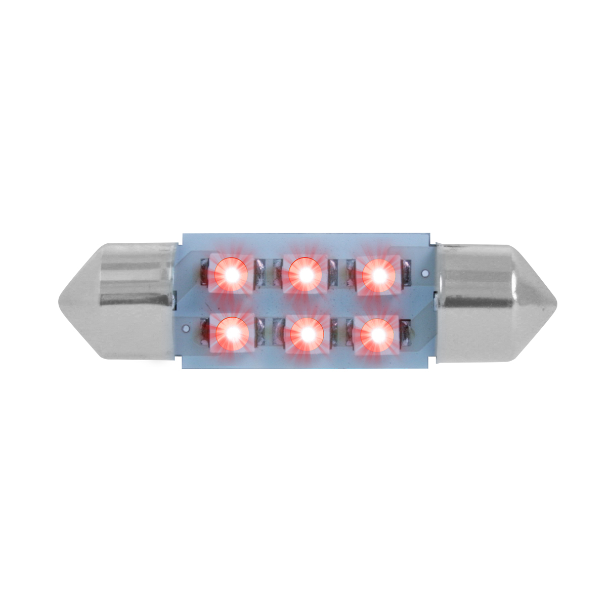 75003 Red 211-2 Dome Type 6 LED Light Bulb