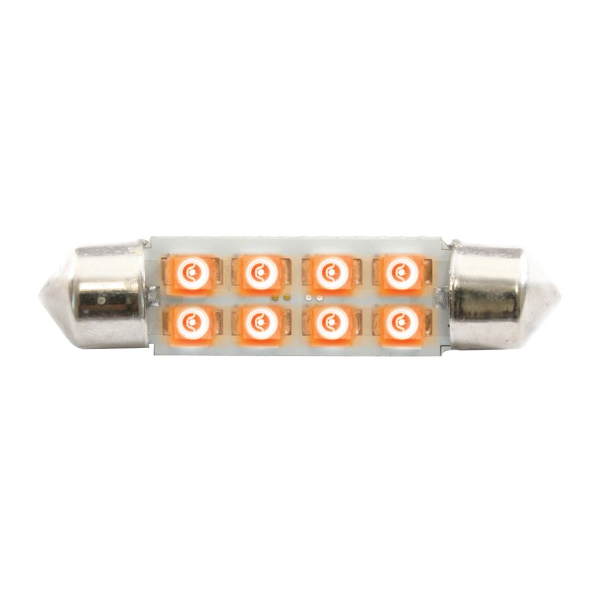 77150 Amber 211-2 Dome Type 8 LED Light Bulb