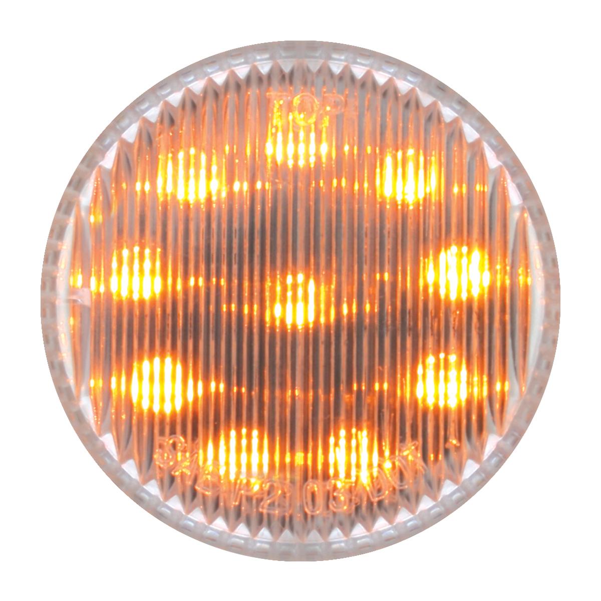 """79287 2"""" Round Fleet LED Marker Light in Clear Lens"""