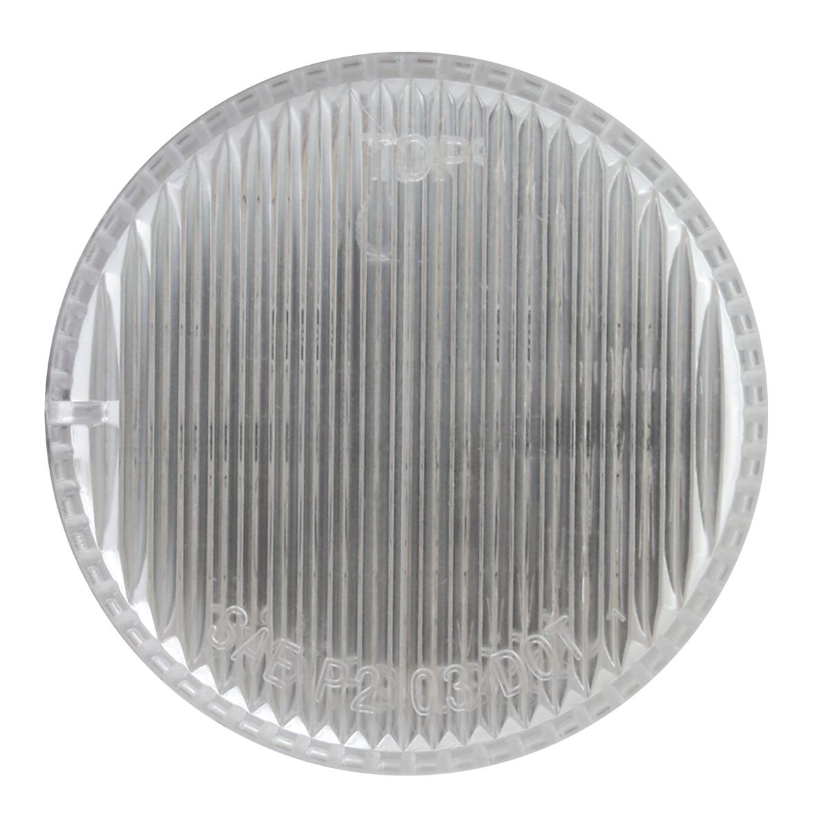 """2"""" Round Fleet LED Marker Light in Clear Lens"""