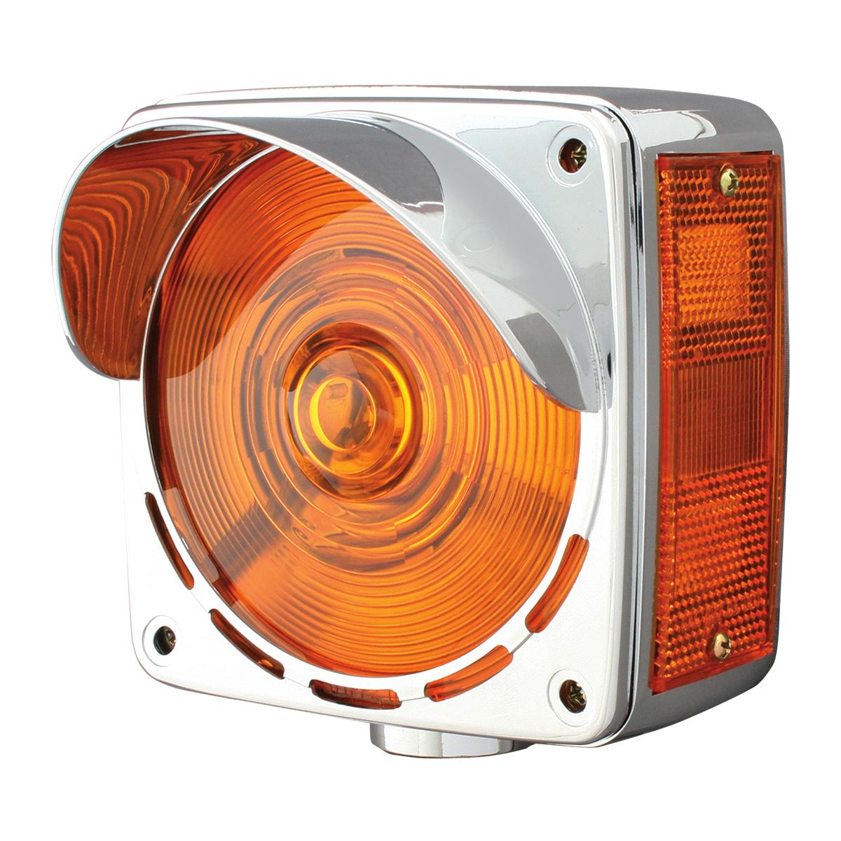 80358 Chrome Plastic Bezel with Visor for Square Double Face Pedestal Light (Light Not Included)