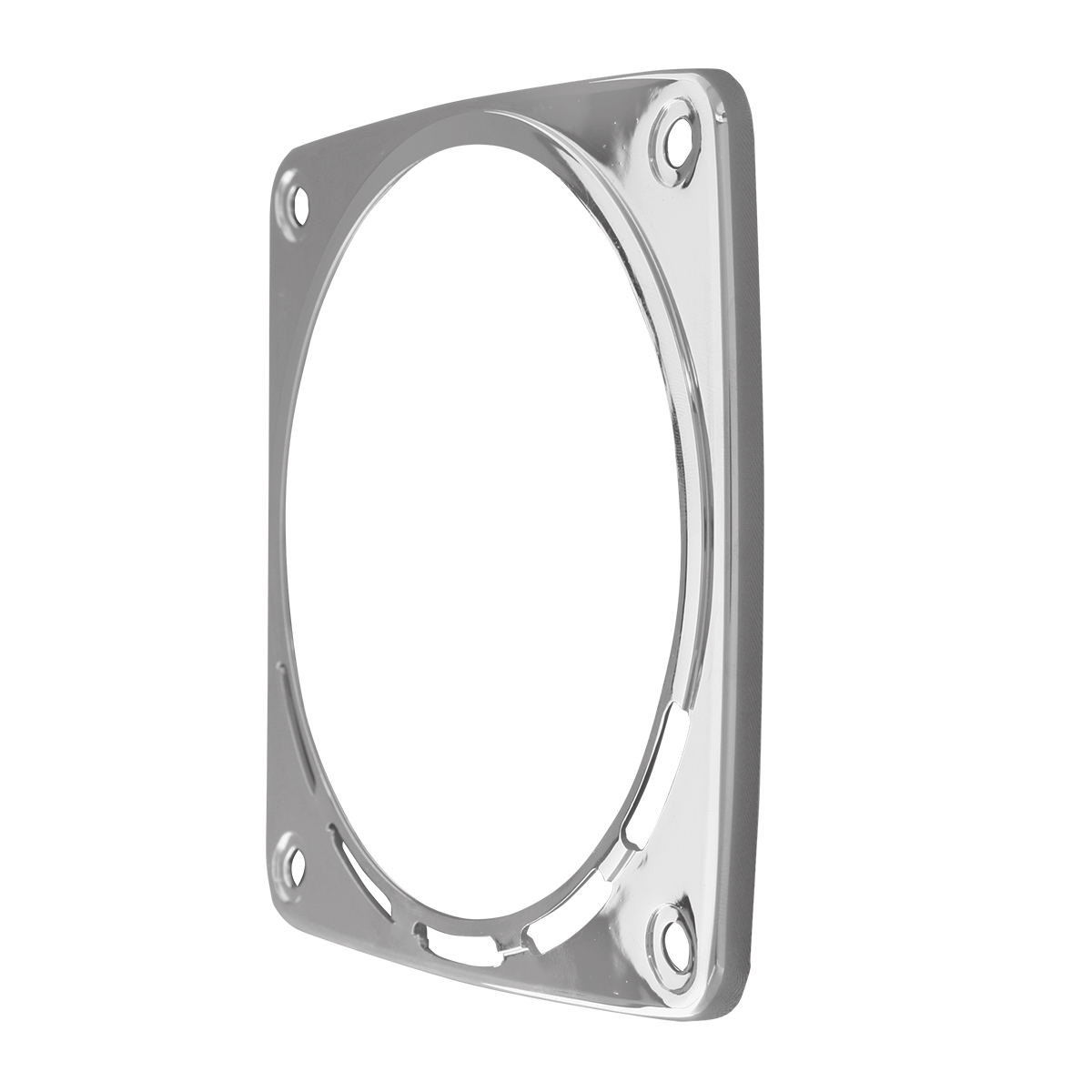 80359 Chrome Plastic Bezel w/o Visor for Square Double Face Pedestal Light