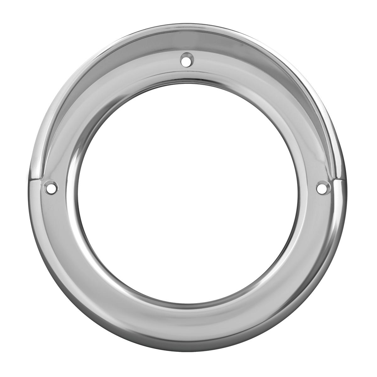 """80477 Chrome Plastic Grommet Cover w/ Visor for 4"""" Round Light"""