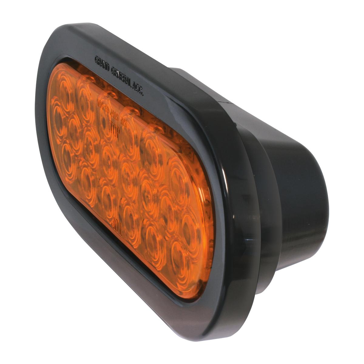 80665 Large Oval Closed Back Rubberized Vinyl Grommet with Amber Pearl LED Light (Not Included)