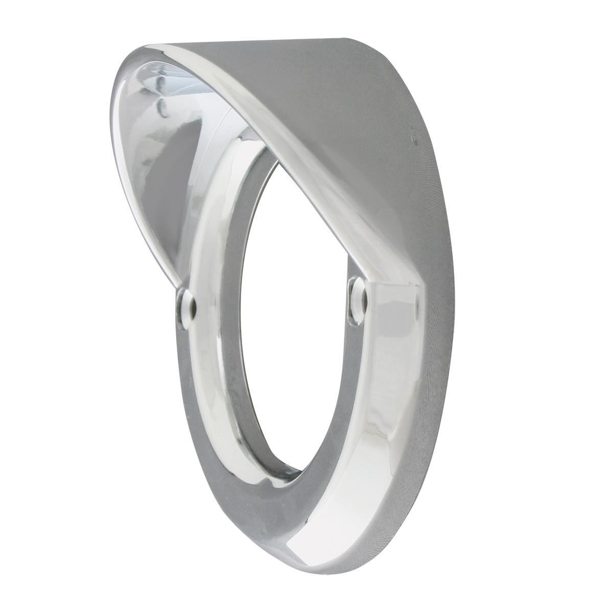 """80726 Chrome Plastic Grommet Cover w/ Visor for 2"""" Round Light"""