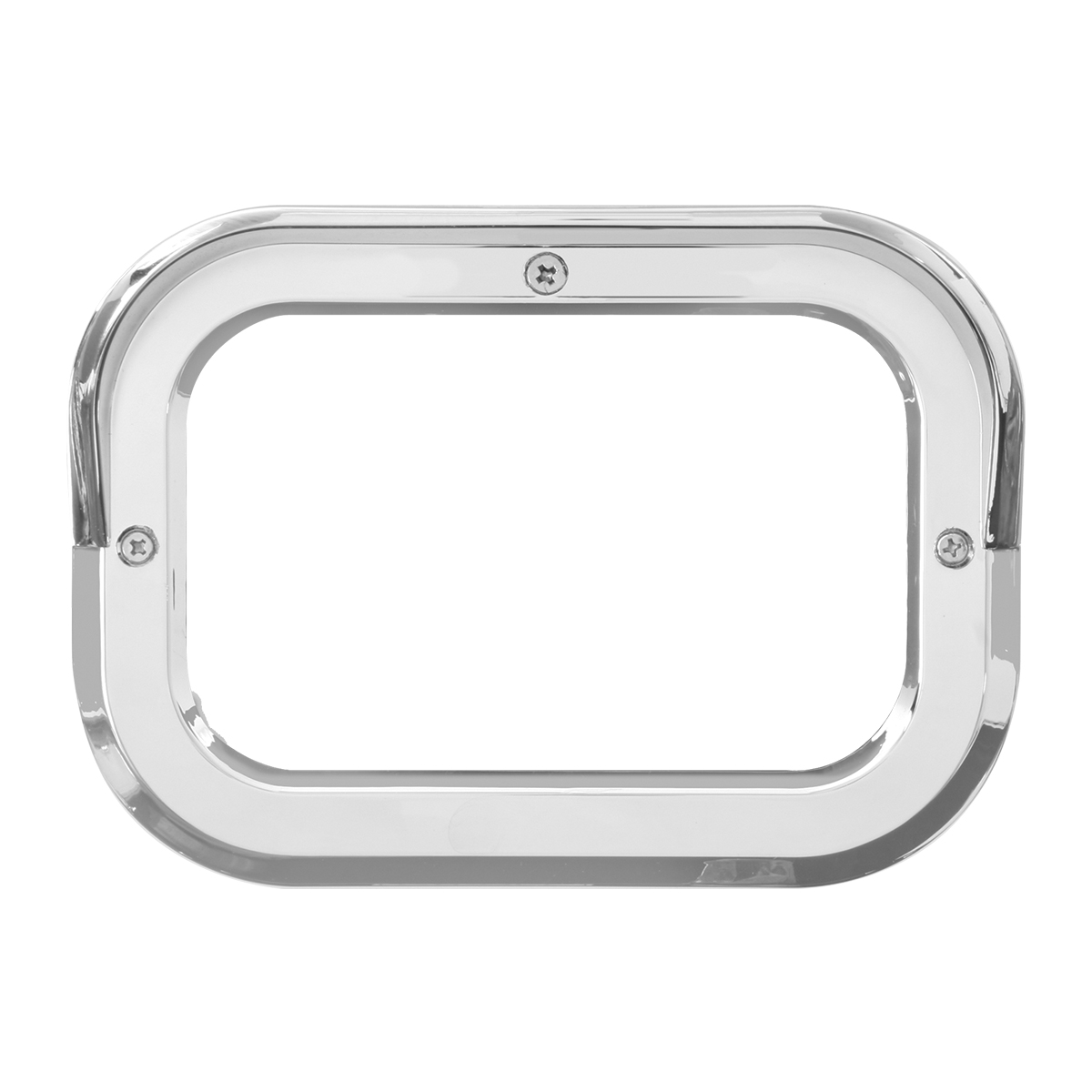 "80786 Chrome Plastic Grommet Cover w/ Visor for 5.25"" Large Rectangular Light"