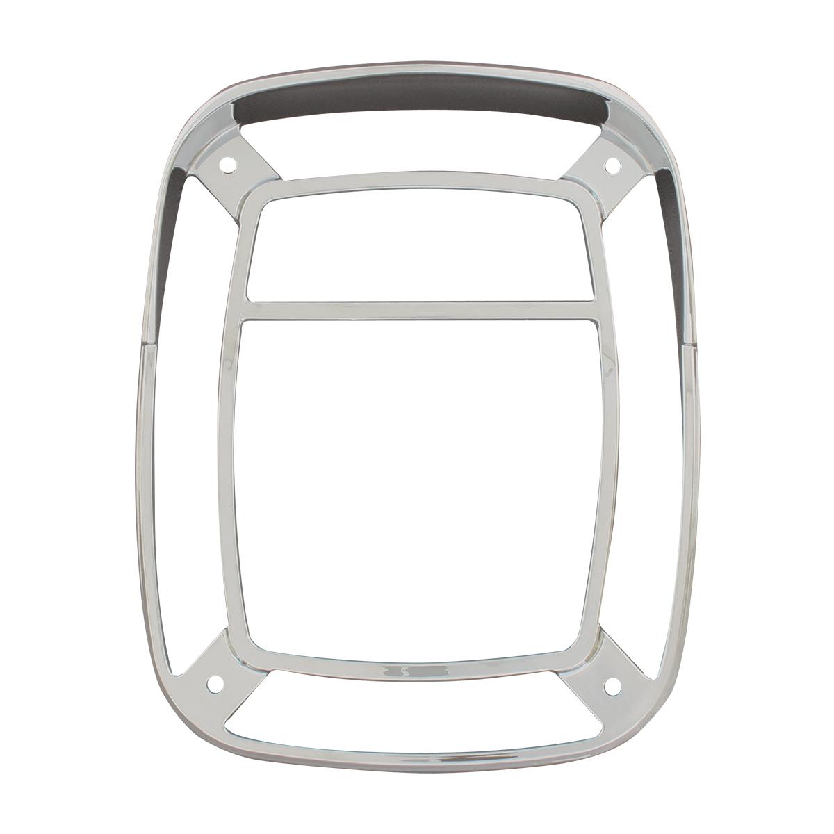 80799 Chrome Plastic Bezel w/ Visor for Universal Combination Light