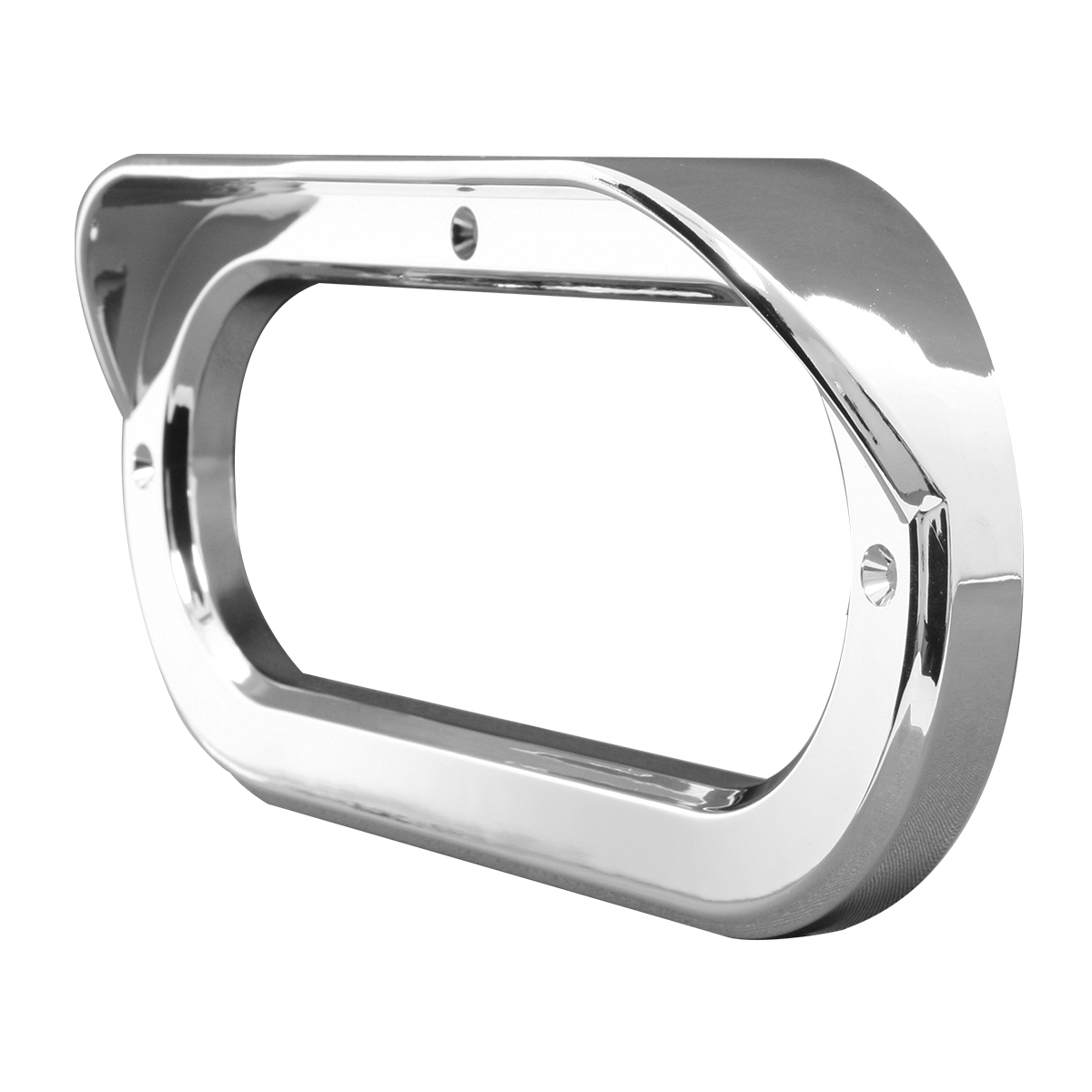 "80807 Chrome Plastic Grommet Cover w/ Visor in Horizontal Style for 6.5"" Large Oval Light"