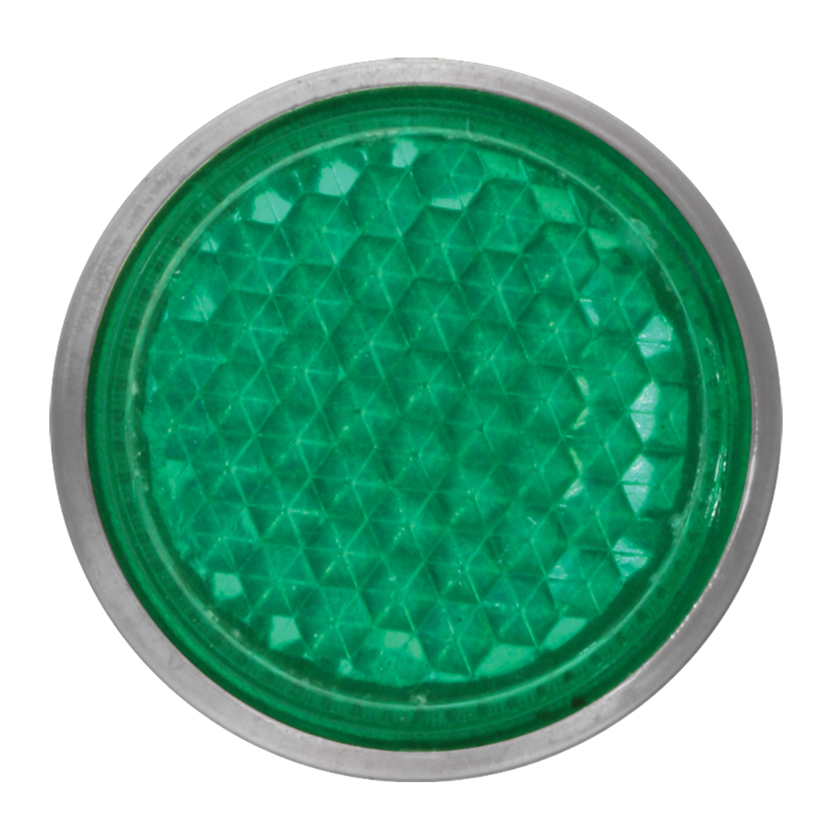 "Green 5/8"" Round Screw Type Mini Reflector"