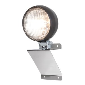 """#81753 Stainless Steel Small """"Z"""" Shaped Light Bracket with 4 ½"""" Tractor Utility Light"""