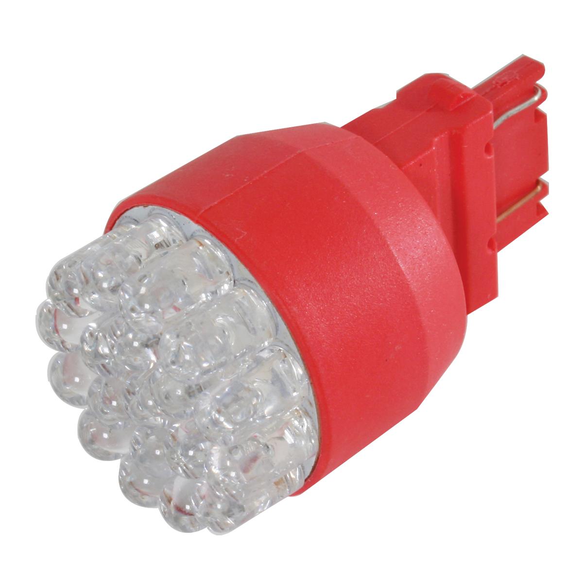 83991 Red 3157 Single Directional 19 LED Light Bulb