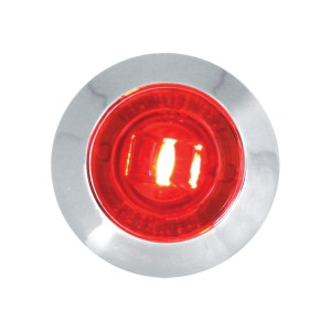 1″ Dia. Mini Push/Screw-in Wide Angle LED Marker Light w/ Chrome Bezel