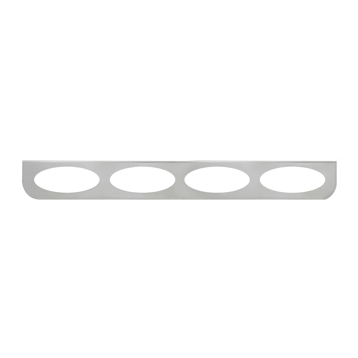 "#89079 Chrome Quadruple ""L"" Shape Light Bracket Only"