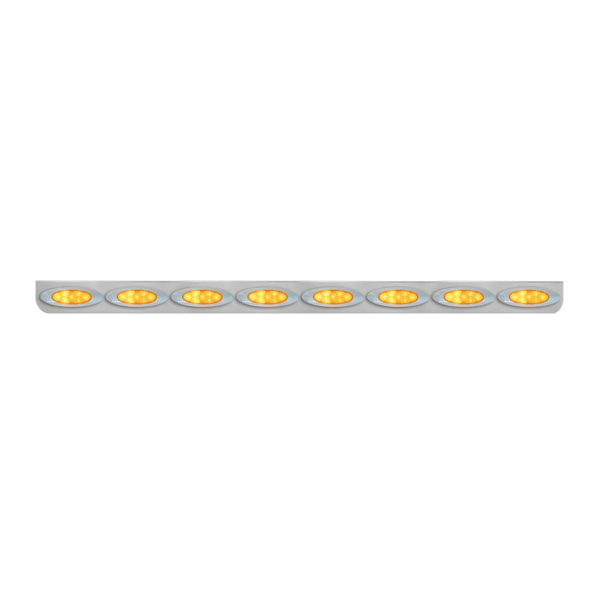 """#89096 8 Light Stainless Steel """"L"""" Shape Light Bracket with Plug-In Y2K Spyder LED Lights"""