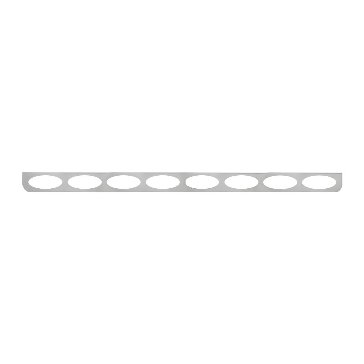 """#89099 8 Light Stainless Steel """"L"""" Shape Light Bracket Only"""