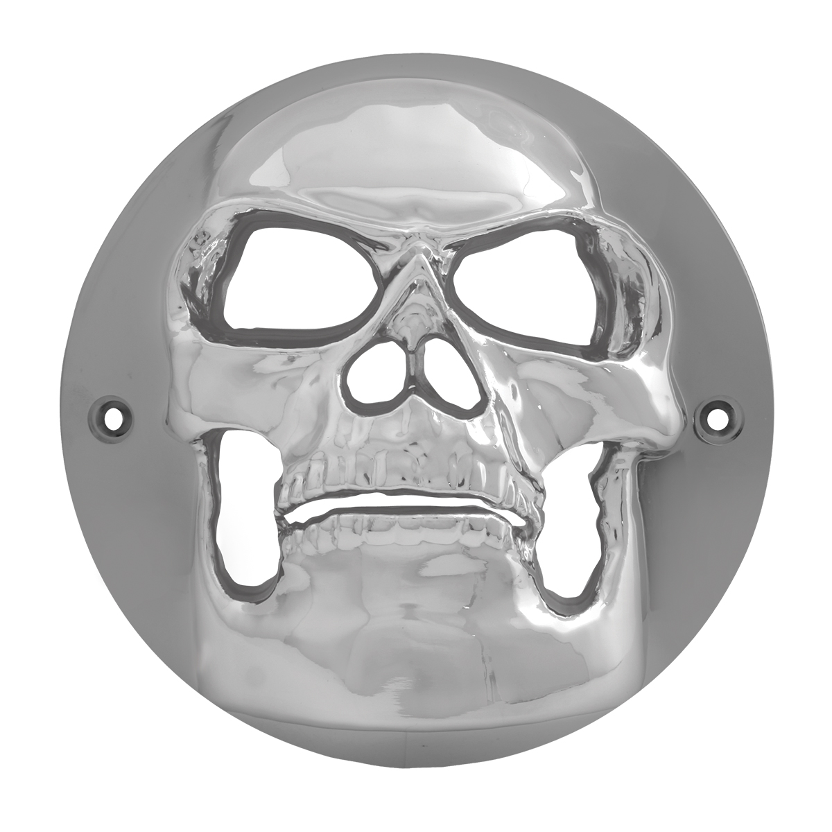 "90090 Chrome Plastic Skull Bezel for 4"" Round Light"