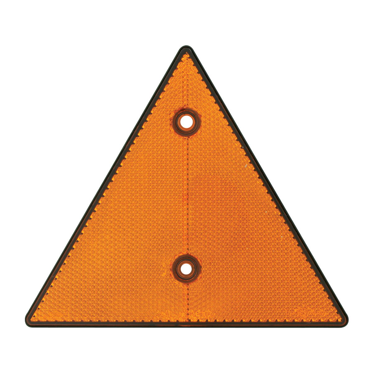 "99550 Amber 6"" Triangle Warning Reflector w/ 2 Mounting Holes"